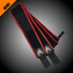 METAL Black'n Red Wrist Wraps (IPF approved) 60 cm